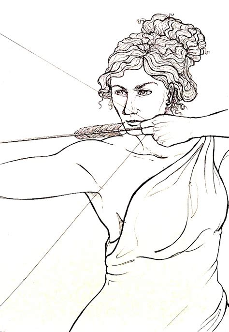 lade a muro artemide artemis drawing bow by umbr3 on deviantart