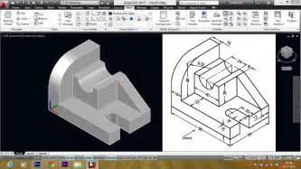 Autocad 3d autocad mechanical modeling part1 making a 3d model