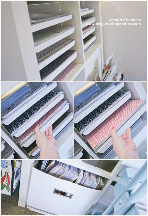 Ikea Craft Paper - ikea trays in shelves sistema con bandejas deslizables