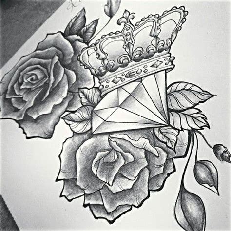 roses and diamonds tattoo diamonds pencil and in color diamonds