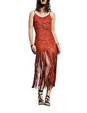 design lab ombre fringe dress vanessa hudgens is red hot in a suede fringed mini dress