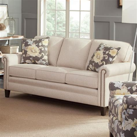 mid size sofa smith brothers 234 234 11 traditional mid size sofa with