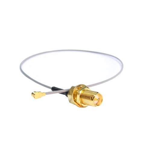 Conector Rp Sma Chasis pigtail ufl sma hembra rp bulkhead de 30 cms