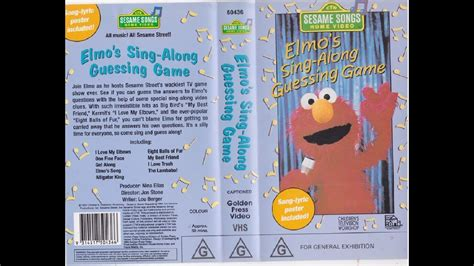 sesame songs home elmo s sing along guessing