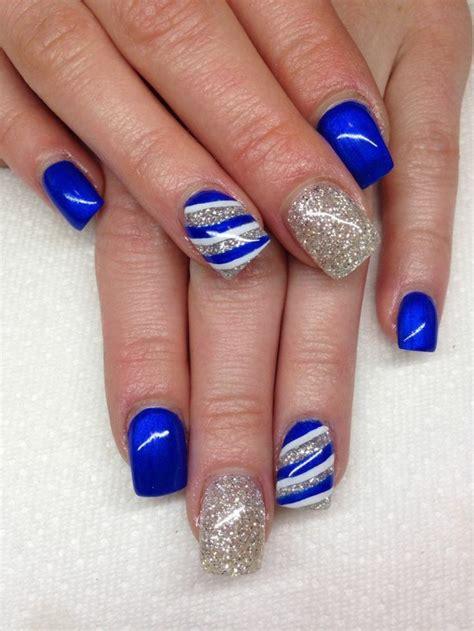Deco Ongle Gel Bleu by Ongle En Gel Noel Bleu