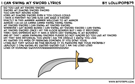 i can swing my sword sword i can swing my sword lyrics bitstrips