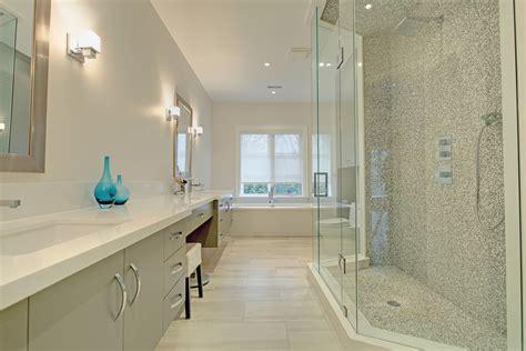 bathroom makeup vanity Bathroom Contemporary with