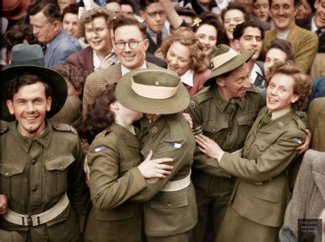 national archives of australia ww2 section 50 breathtaking wwii colorized photos look like they were
