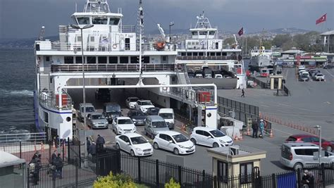 ferry boat with cars istanbul jul 3 people cars leave ferry on july 3 2012