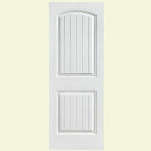 Sound Dening Interior Doors by 28 In X 80 In Solidoor Cheyenne Smooth 2 Panel Camber