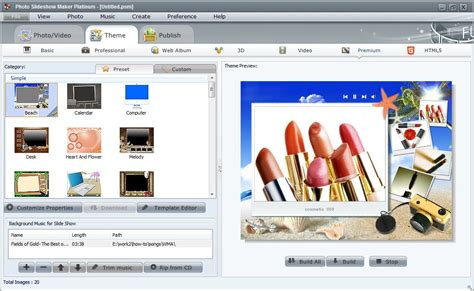 themes photo slideshow creator features of photo flash maker platinum creating flash