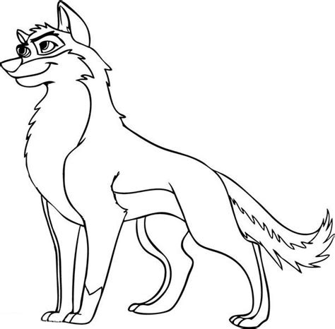 cartoon wolf coloring pages for kids animated wolf