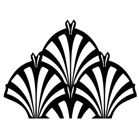 Art Deco Hanji L Ornament Stencil Template