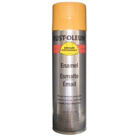 rust oleum v2147838 enamel spray paint industrial yellow