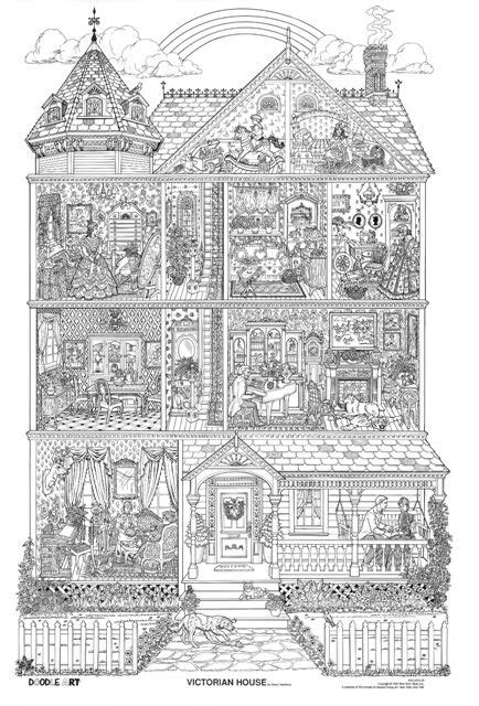 coloring pages for adults houses victorian house zen doodle pinterest