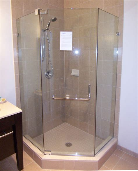 Neo Angle Shower Doors Installation In Md Va Dc Angle Shower Doors