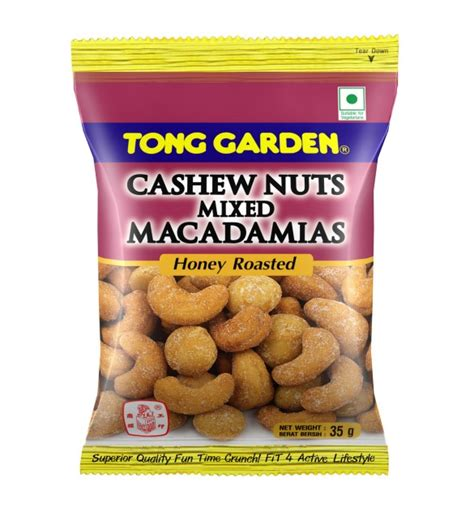 Cashew Nuts Mixed Macadamia Tong Garden tong garden honey roasted cashew mix macadamia 35g premium