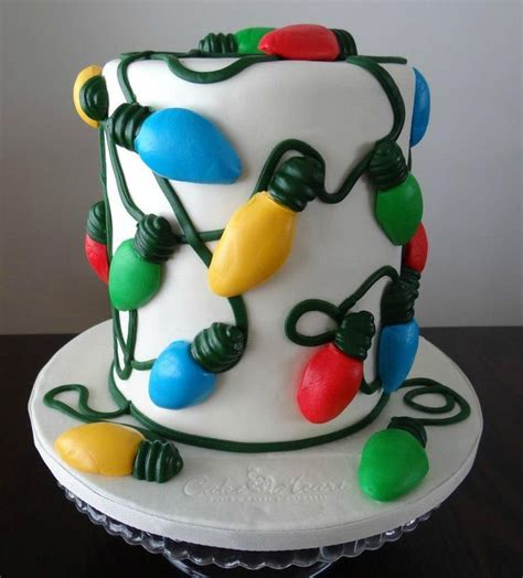 christmas lights cakes pinterest