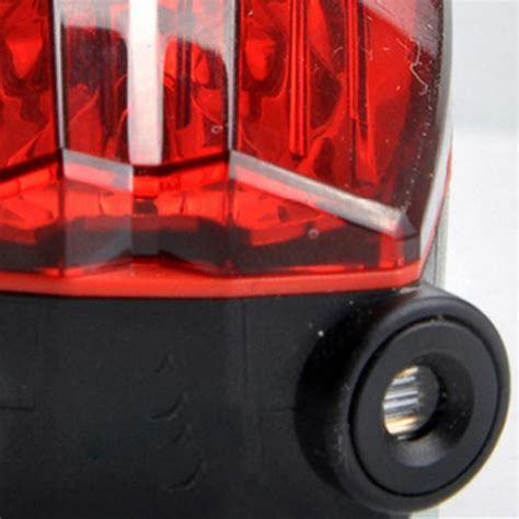 Bicycle Laser Strobe Tailight 5 Led Lu Led Sepeda Murah waterproof brake warning 5 led bike bicycle laser safety