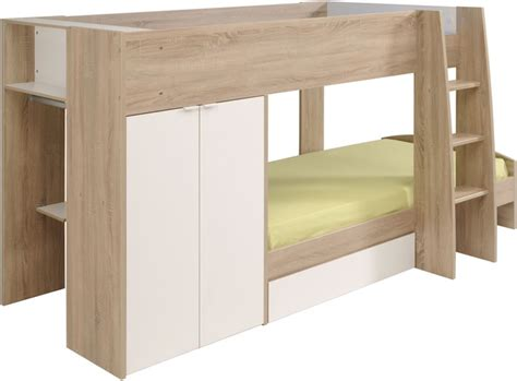 Lounges With Chaise Parisot Stim Bunk Bed With 2 Door Wardrobe