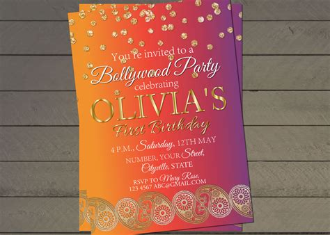 indian birthday card template birthday invite indian wedding invitation
