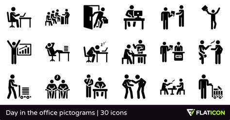 Home Design App Free day in the office pictograms 30 free icons svg eps psd