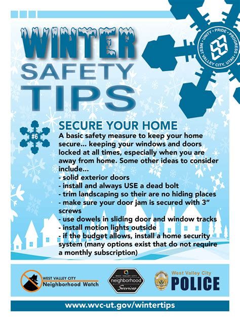 image gallery home safety tips winter safety tips west valley city ut official site