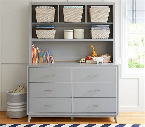 Changing Table Dresser Hutch by Reese Wide Dresser Hutch Set Pottery Barn