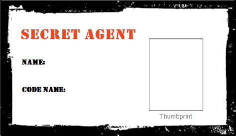 detective identification card template for food whine