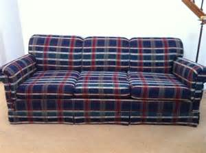 Tartan Sofas For Sale by Plaid Fabric With Pull Out Bed Must Sell