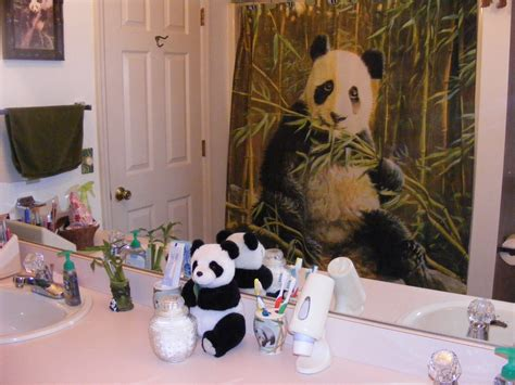 pandamonium in the bathroom moonlight reflections