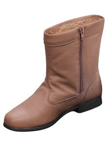 leather fleece lined boots drleonards