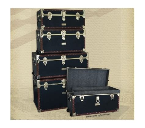 room trunks footlockers vintage styled college seward collection 1878 series trunks
