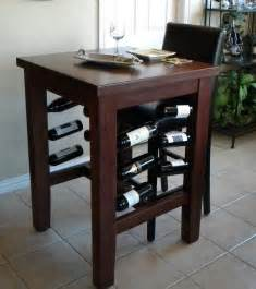 Pub Table With Wine Rack by Handmade Brinkman Pub Table With Wine Storage By
