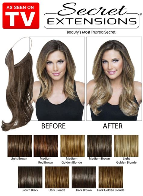 Secret Extensions Hair Colors Secret Extensions As Seen On Tv Secret Extensions Medium Brown