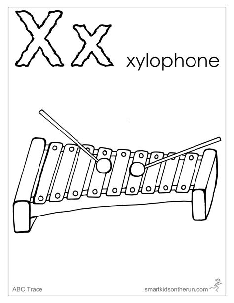 x coloring pages free x is for xylophone coloring pages