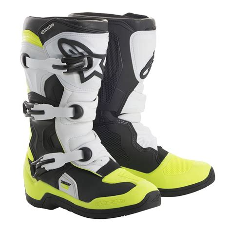 alpinestars tech 6 motocross boots 2018 alpinestars tech 3s youth boots black white yellow