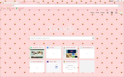google chrome themes girly pixel strawberries on pink google chrome theme weasyl