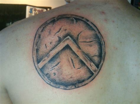 spartan shield tattoos