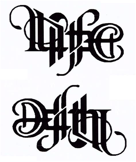 life and death tattoos designs and by zinbeo on deviantart