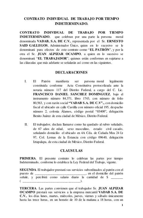 contrato d docentes primaria 2016 contrato individual de trabajo por tiempo