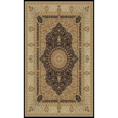 1 Inch Thick Area Rugs - black with beige traditional area rug one inch