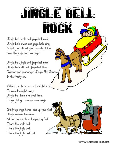 printable lyrics jingle bell rock jingle bell rock lyrics have fun teaching
