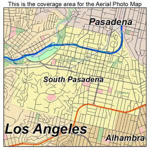 aerial photography map of south pasadena ca california