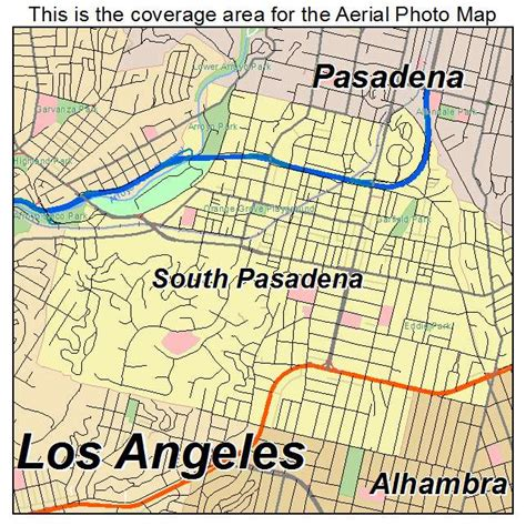 california map and south aerial photography map of south pasadena ca california