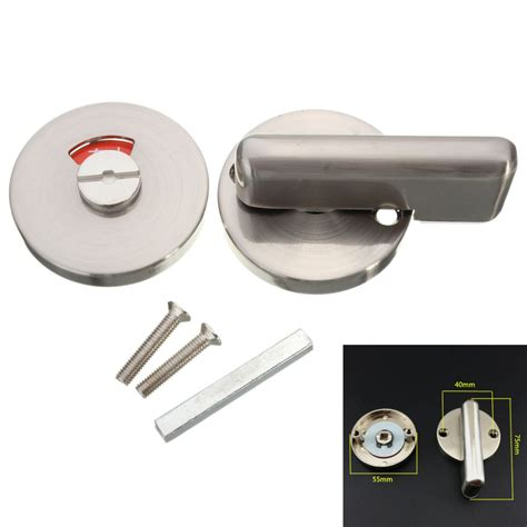 bathroom door bolt lock stainless steel bathroom toilet door indicator turn