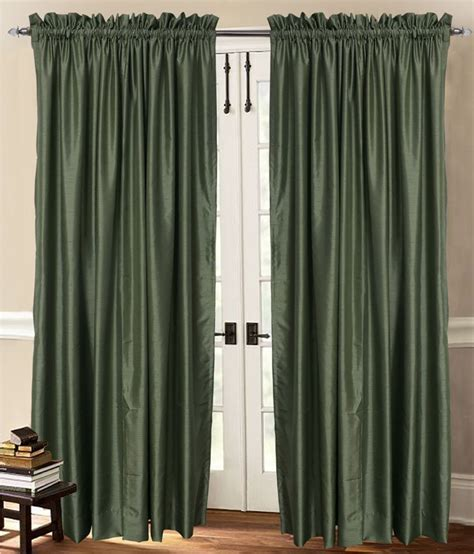 green faux silk curtains green faux silk dupioni curtain rod top 40 quot wide x 60