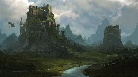 fantasy environment by atomhawk on landing ruins design environment concept and places