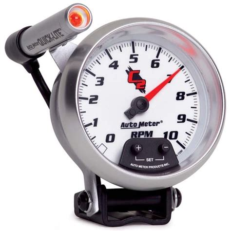 Takometer Tachometer Rpm Meter Shift Light auto meter 7290 c2 air pedestal tachometer w