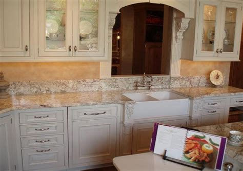 White Kitchen Cabinets With White Granite Countertops by White Granite Kitchen Countertops White Cabinets